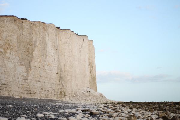 the beach at beachy head near to the cliffs