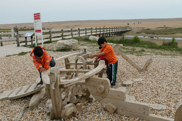 chesil beach play area at the visitor centre