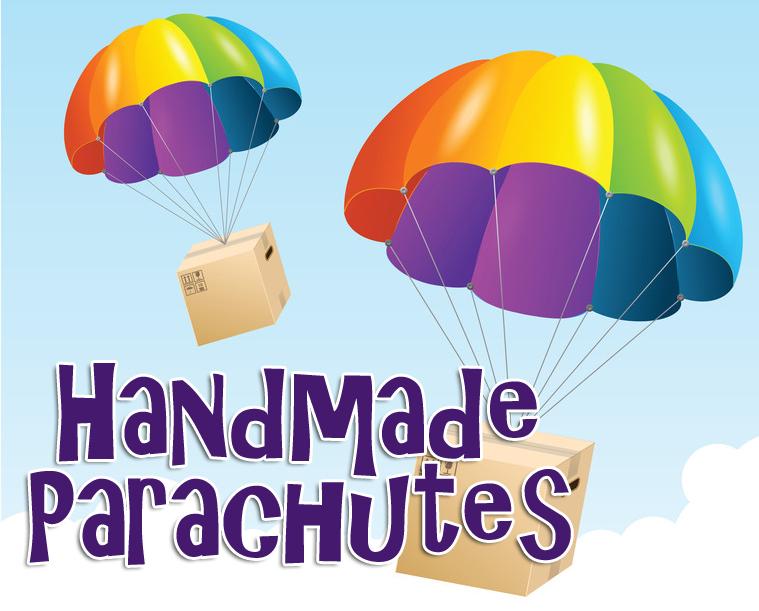 handmade parachutes craft for kids