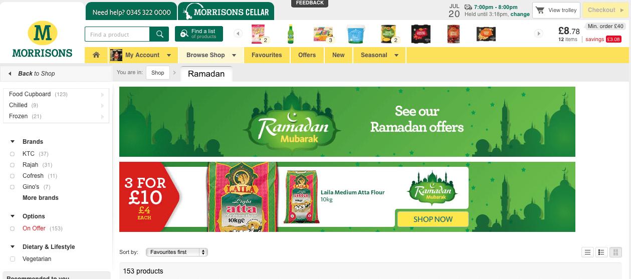 Morrisons online shopping service