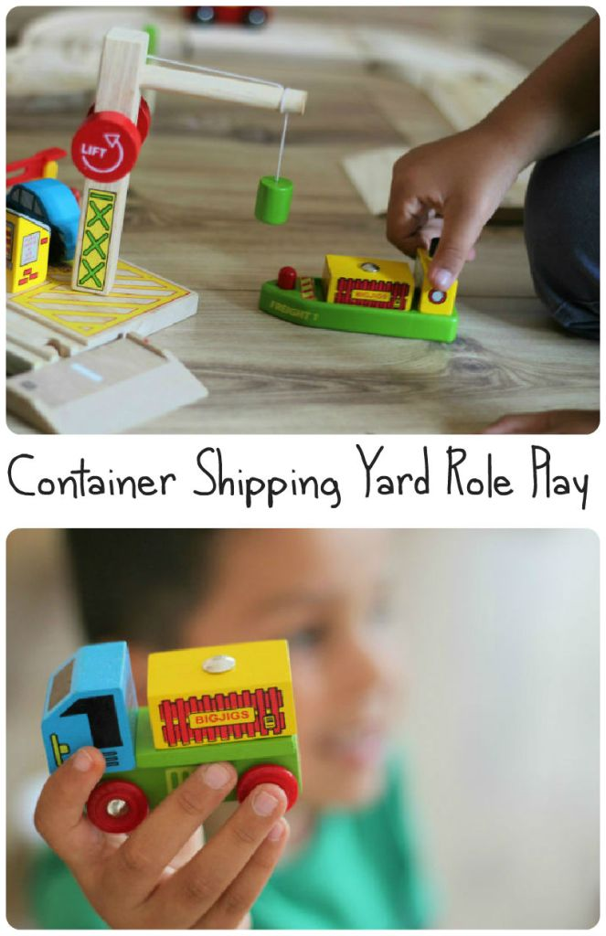 Small world role play - container shipping yard