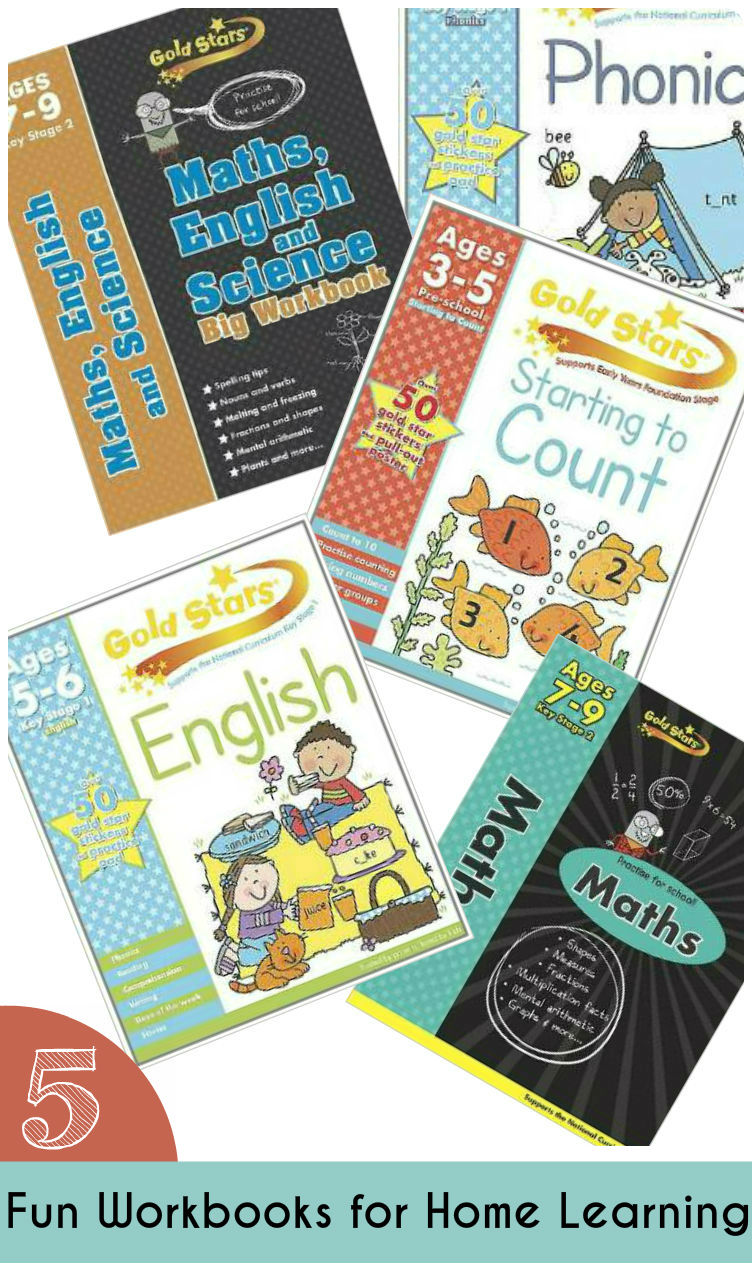 5 fun workbooks for kids to make learning from home fun and help to reinforce their learning