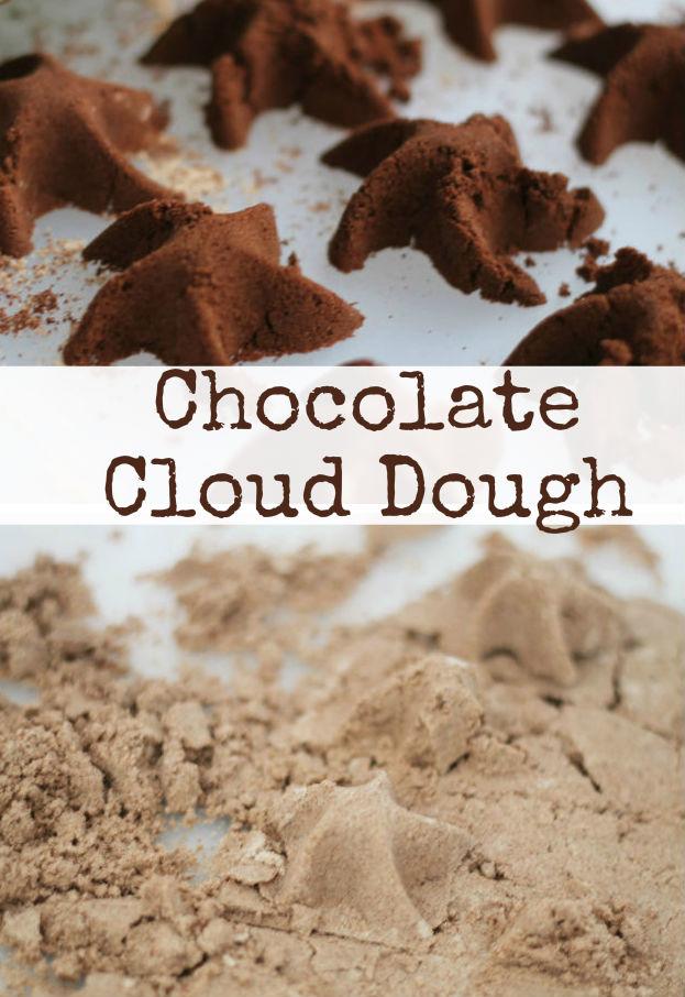 How to make chocolate cloud dough recipe - 2 ways to make! Great for sensory play