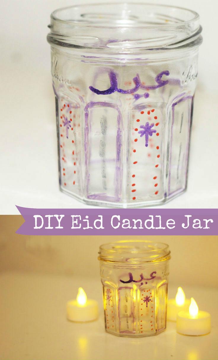 DIY eid candle jar
