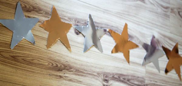 how to make a star garland step 4