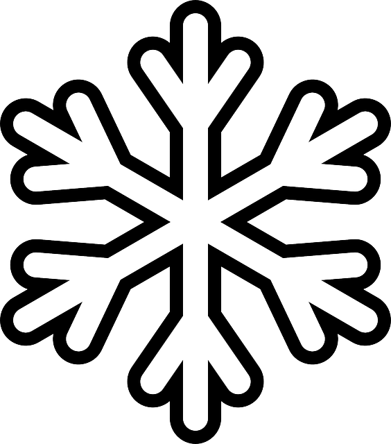 Simple Snowflake Line Art : Snowflake colouring pages in the playroom