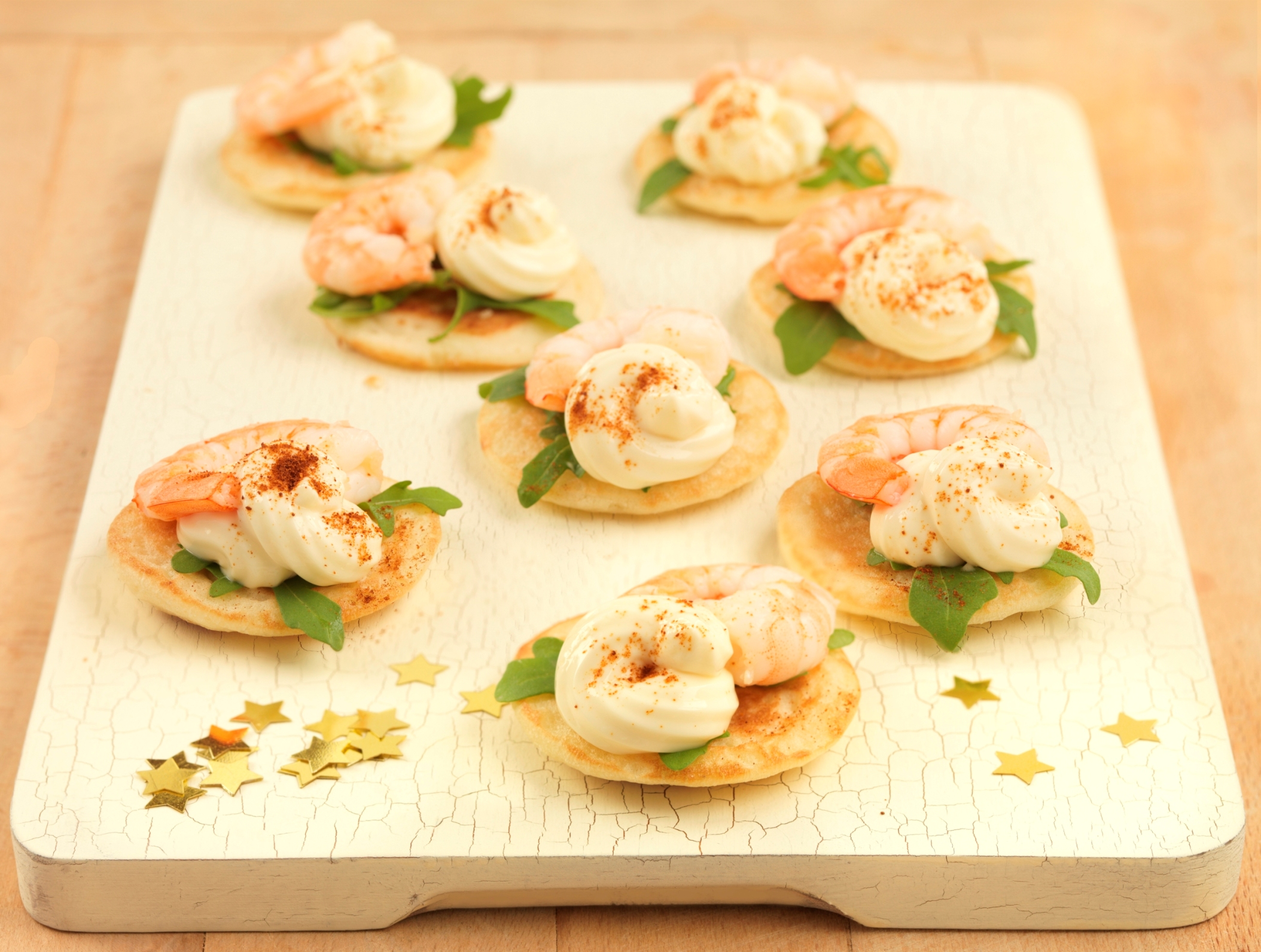 King Prawn Cocktail Canapes Party food recipe