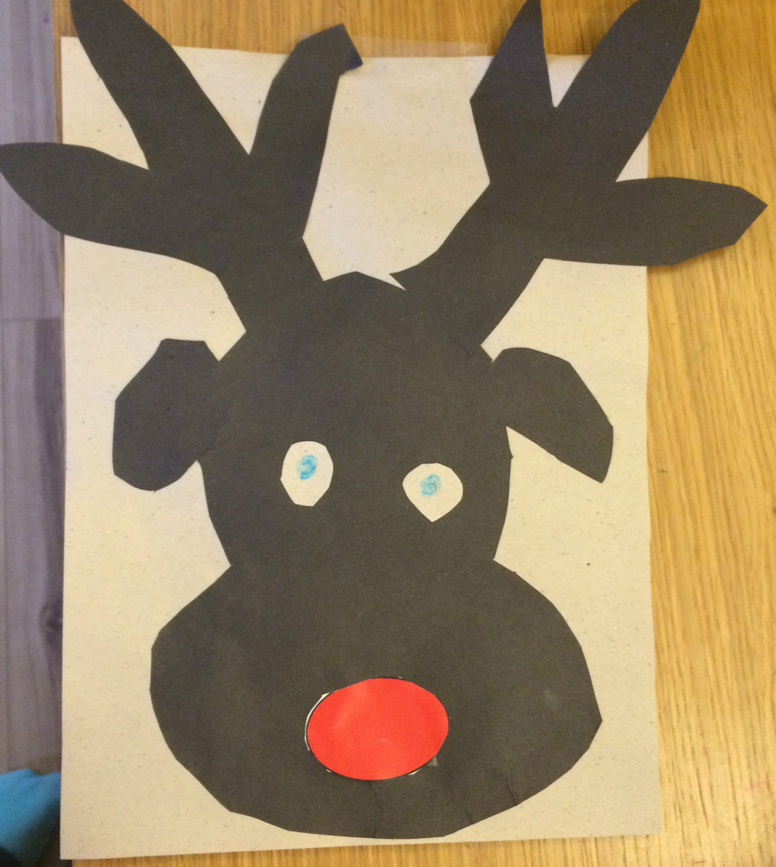 Pin the nose on rudolph christmas party game idea