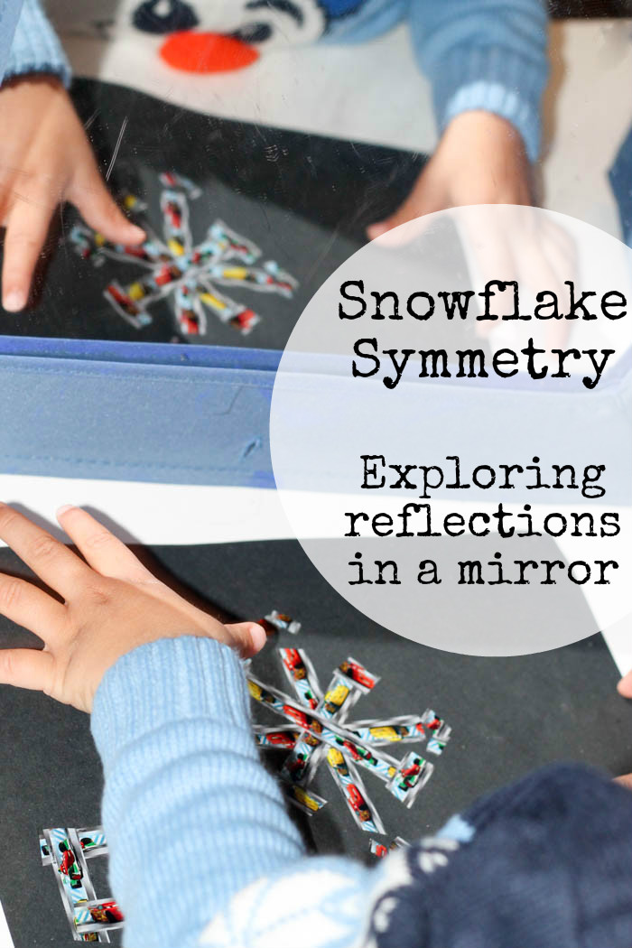 Snowflake symmetry : exploring reflections in a mirror using a tape snowflake craft