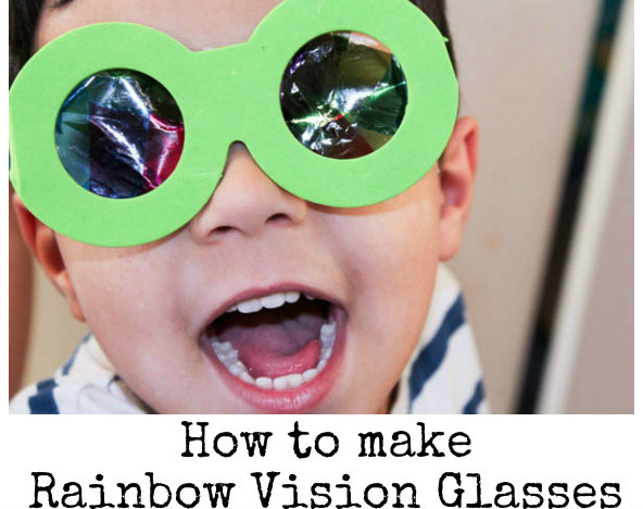 How to make your own rainbow vision glasses