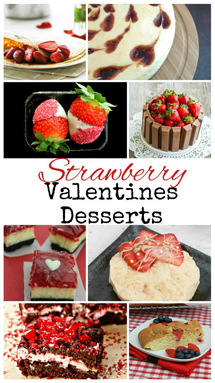 So many yummy Strawberry Valentines Desserts - brownies, cheesecakes, pancakes, meringues and more!