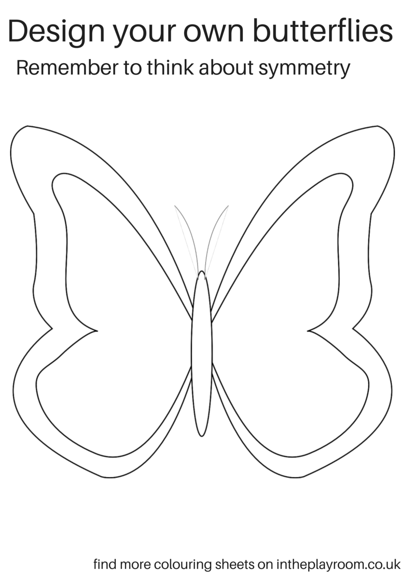 design your own butterflies printable activity sheets
