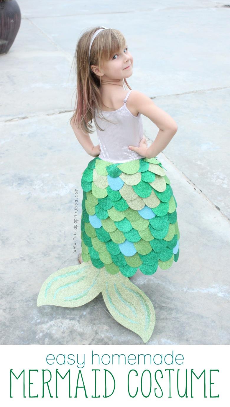 Easy Homemade Mermaid Costume. World book day costume idea