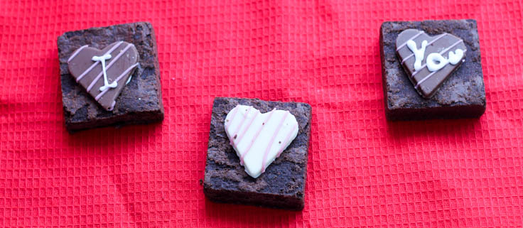 I love you valentines brownies from Asda