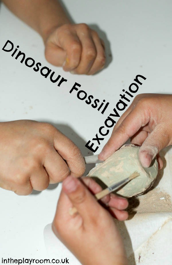 dinosaur fossil excavation activity a fun hands on way to learn about dinosaurs and paelontology