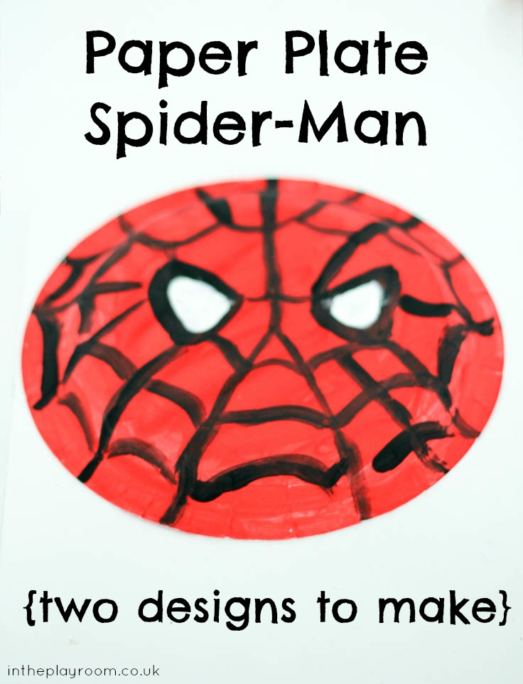 Paper Plate Spider Man In The Playroom