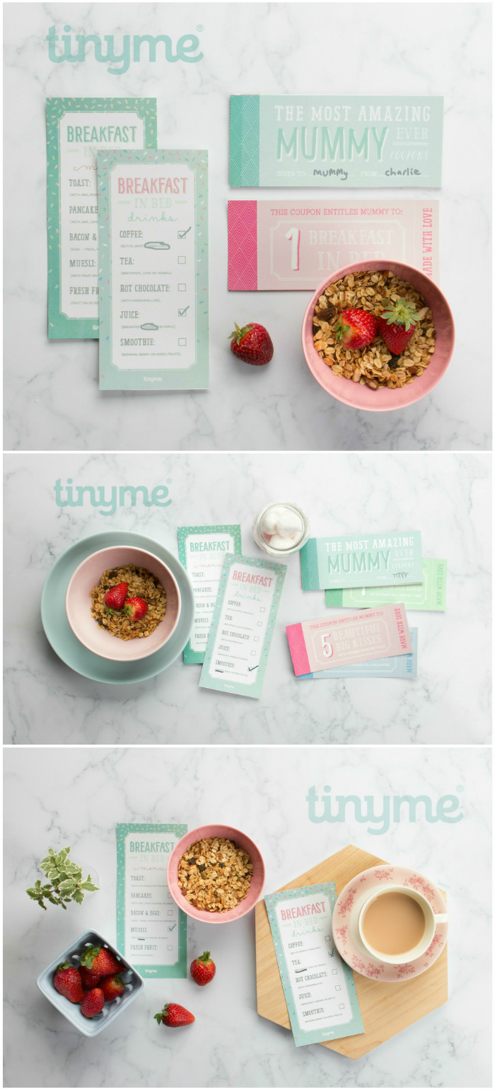 mothers day printables. Redeemable coupon book for hugs and kisses, and breakfast in bed menus