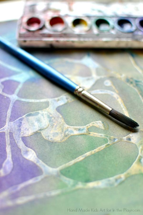 sandpaper and watercolor art exploration