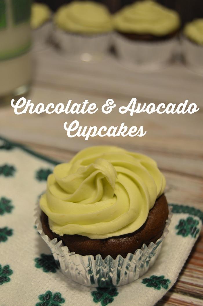 chocolate avocado cupcakes. Really easy recipe