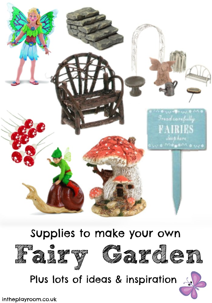 10 enchanting fairy gardens in the playroom for How to make a fairy garden accessories