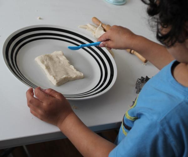 mark making on salt dough