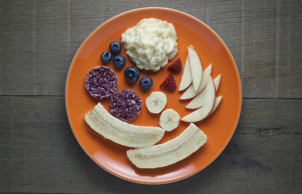 ingredients for a healthy rabbit snack for kids