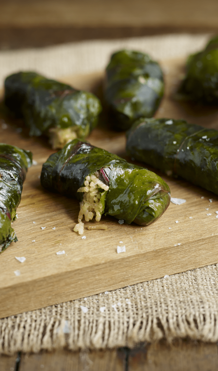 Dolmades recipe with beet leaves and rice