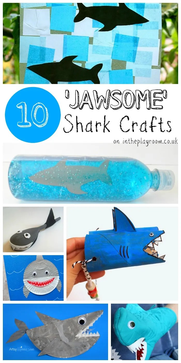 10 jawsome shark crafts and kids activities for shark week