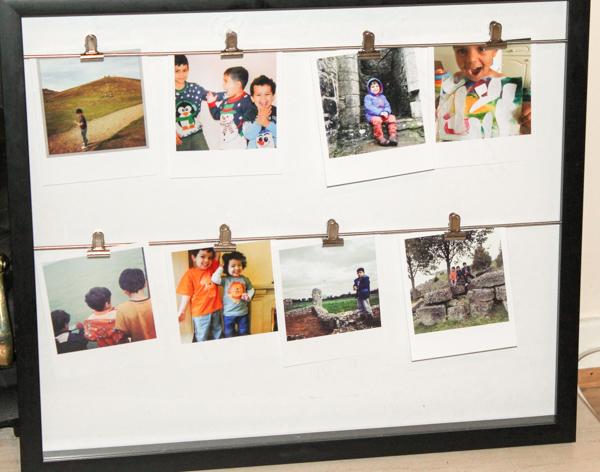 clip line photo frame