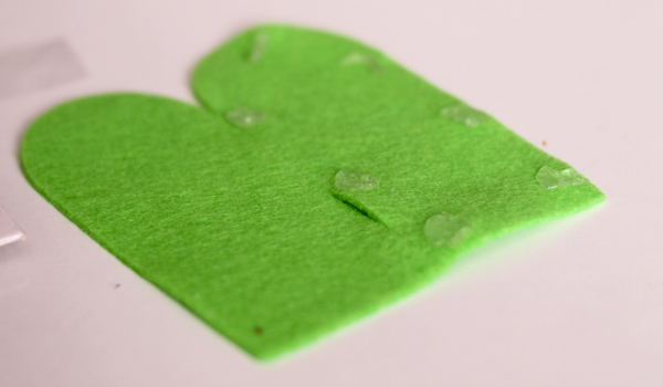 glue dots to make a finger puppet