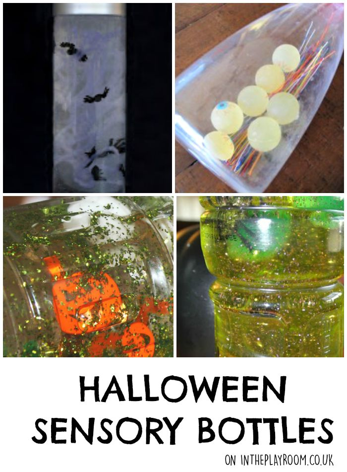 Halloween sensory bottles and discovery bottle ideas