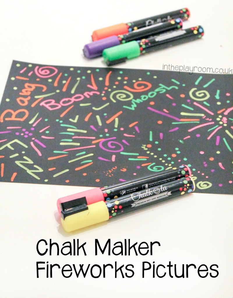 Firework pictures with chalk markers