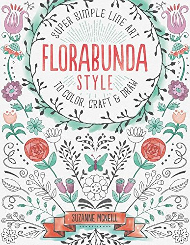 FloraBunda Style super simple line art, great for those who like zentangle and grown up colouring. Simple way to get creative