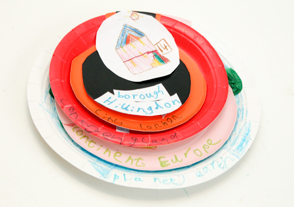 My World paper plate craft