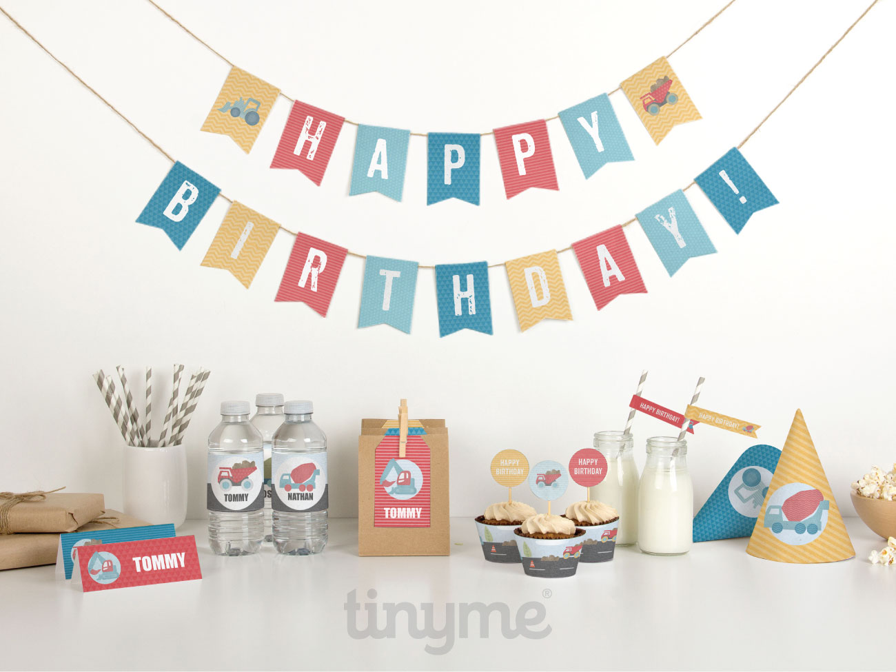 birthday construction party printables