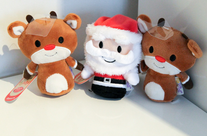 festive itty bittys santa and rudolph