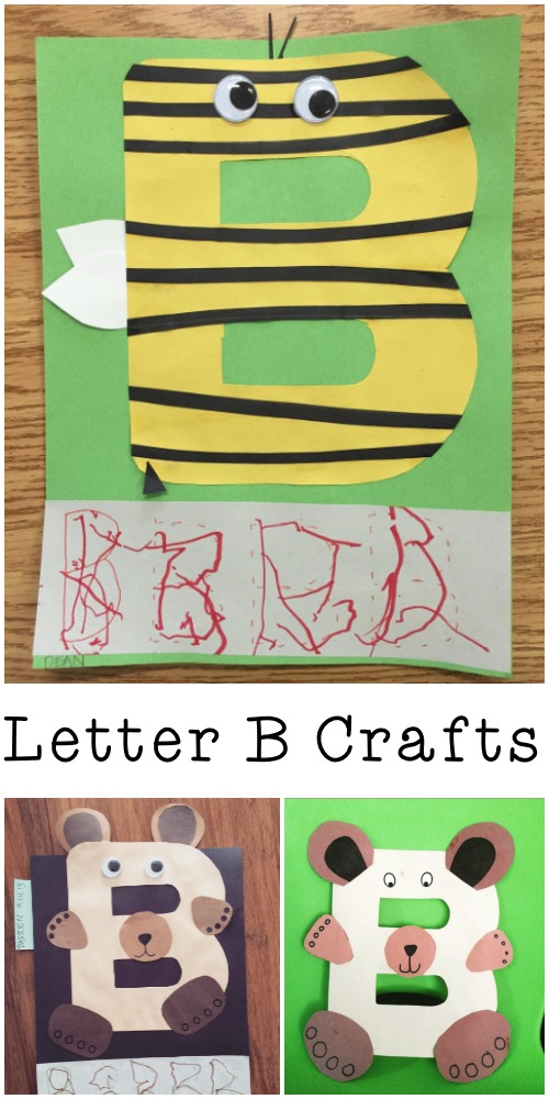 Cute Letter B Crafts for kids learning the letters of the alphabet