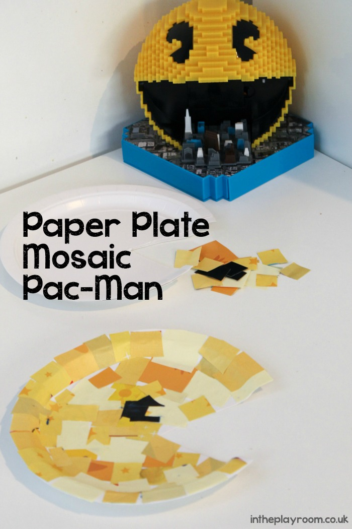 Paper Plate Mosaic Pac-Man inspired by the movie Pixels