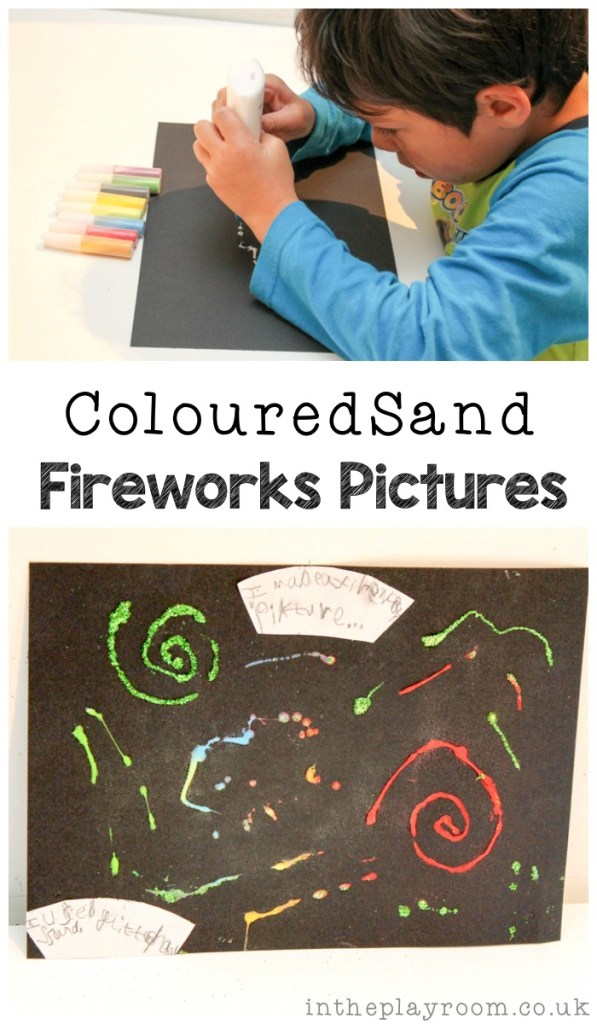 coloured sand fireworks picture for new years eve or bonfire night