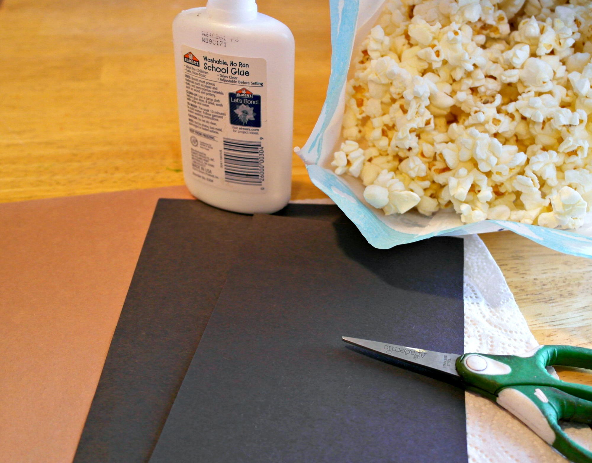 supplies for popcorn sheep craft
