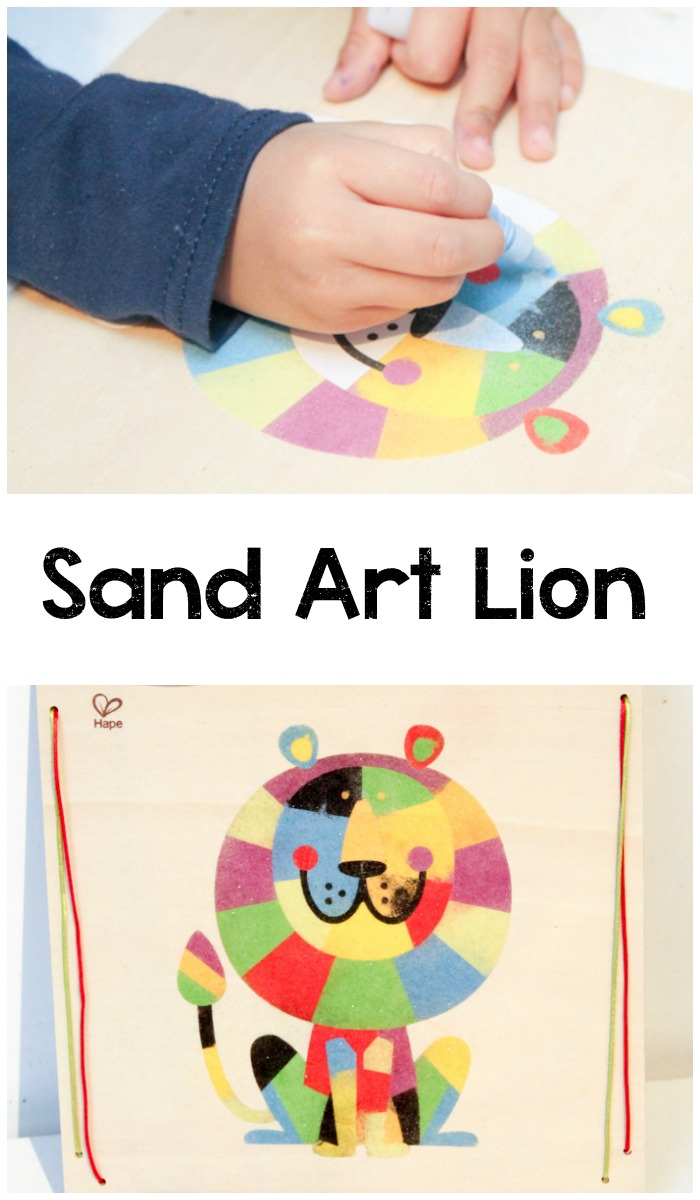 sand art lion craft