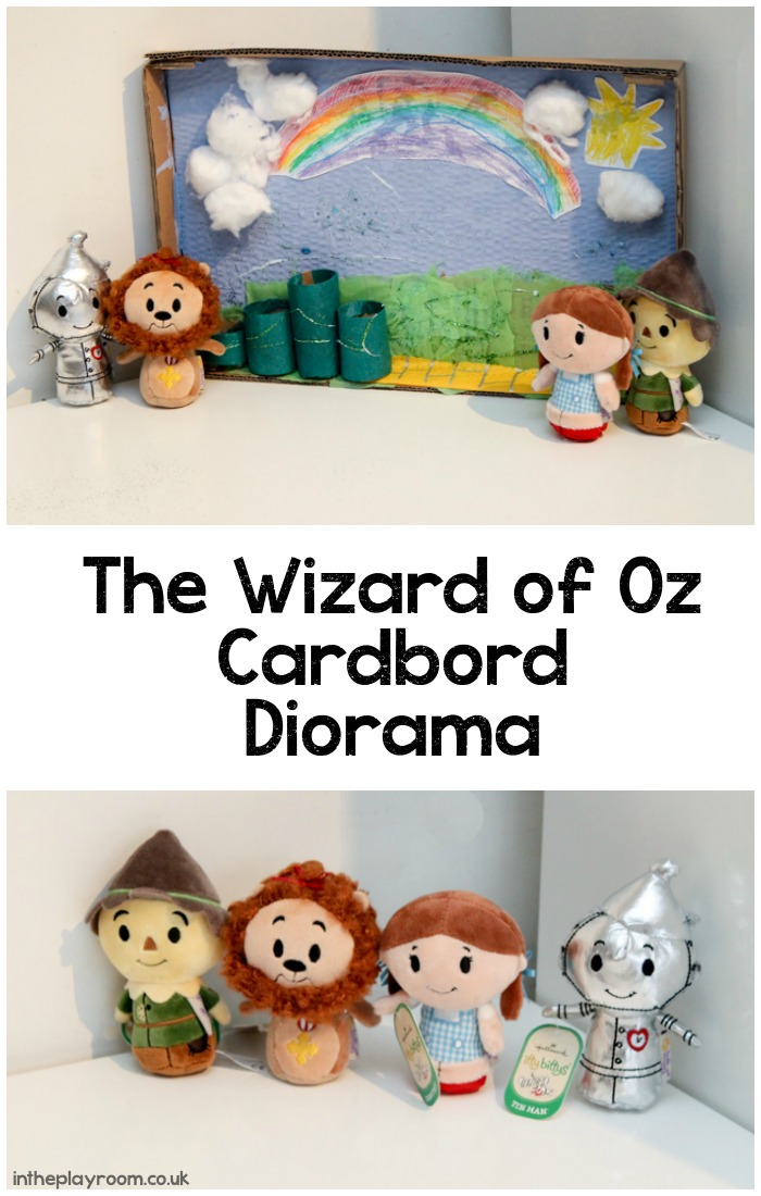 Wizard of Oz cardboard diorama craft idea for kids