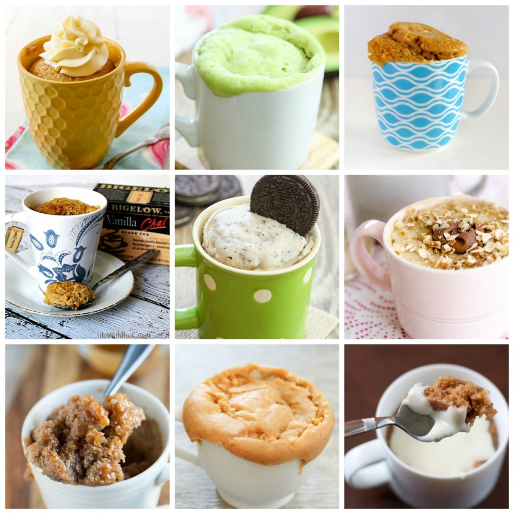 25 different types of microwave mug cakes