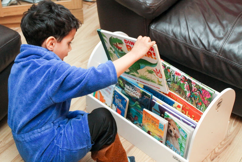 Tidy Books Book Box visual book storage for kids