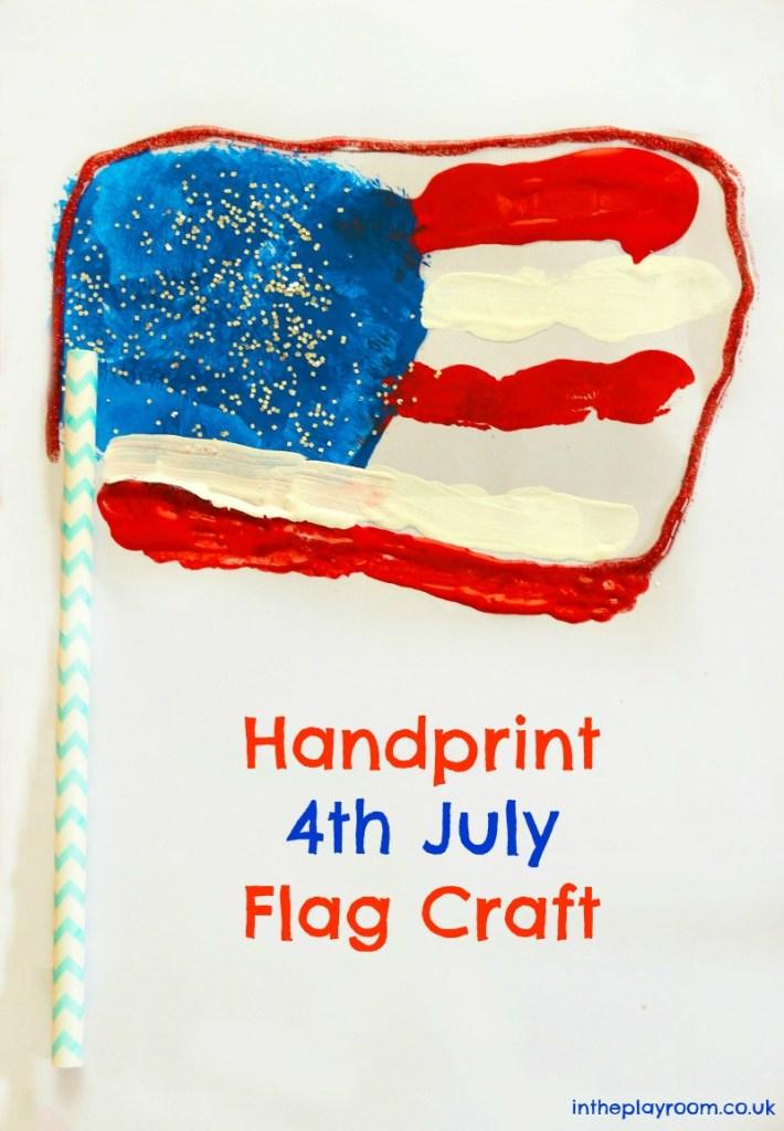 cute american flag handprint craft for 4th july