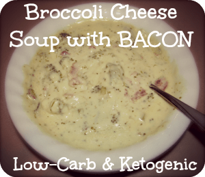 Broccoli Cheese Soup with Bacon