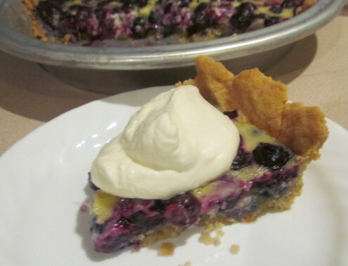 Blueberry Custard Pie (sugar-free and gluten-free)