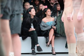 Alexander Wang(L) and Rihanna
