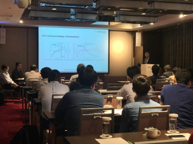 KW Tai-Guang Huang providing overview of Inventus Power's technology capabilities