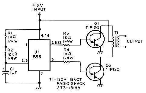 25 watt power inverter circuit